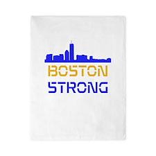 Boston Strong Skyline Multi-Color Twin Duvet