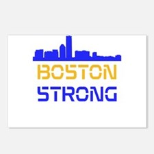 Boston Strong Skyline Multi-Color Postcards (Packa