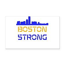 Boston Strong Skyline Multi-Color Rectangle Car Ma