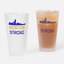 Boston Strong Skyline Multi-Color Drinking Glass