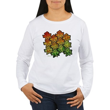 Celtic Leaf Tesselation Women's Long Sleeve T-Shir