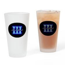 Three Percent Glow Drinking Glass