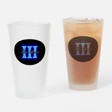Three Percent Glow Drinking Glass