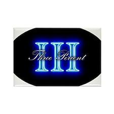 Three Percent Glow Rectangle Magnet