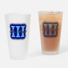 Three Percent Clear Glow Drinking Glass