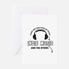Indie Music lover designs Greeting Cards (Pk of 20
