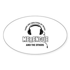 Merengue lover designs Decal