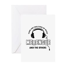 Merengue lover designs Greeting Card