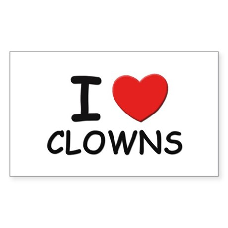I love clowns Rectangle Sticker