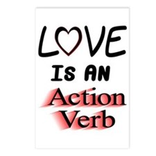 Love Is An Action Verb Postcards (Package of 8)