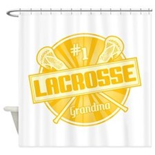 #1 Lacrosse Grandma Shower Curtain