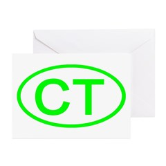 CT Oval - Connecticut Greeting Cards (Pk of 10