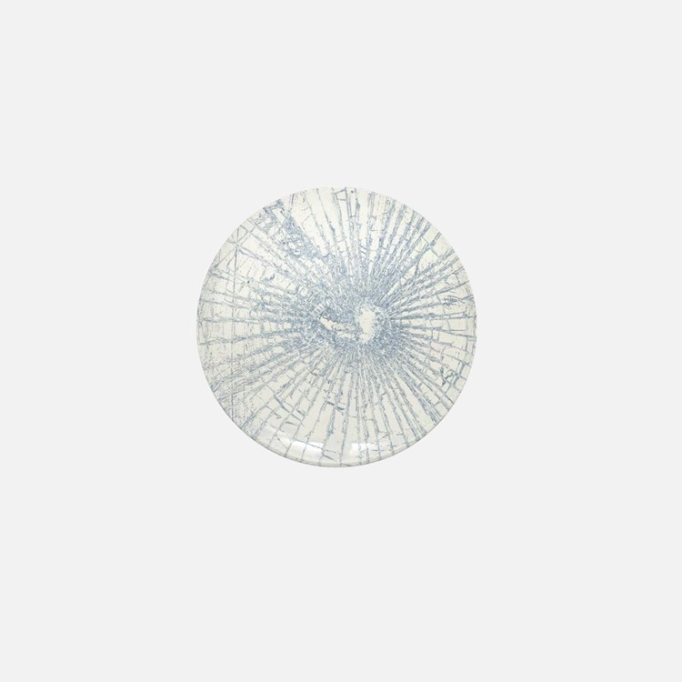 Broken Glass 2 White Mini Button
