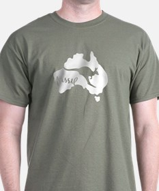 Aussie Roo Green - T-Shirt