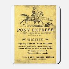 Pony Express Poster Mousepad