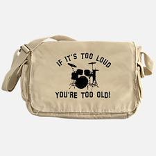 Drum Vector designs Messenger Bag