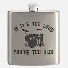 Drum Vector designs Flask