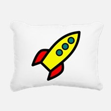 yellow rocket Rectangular Canvas Pillow