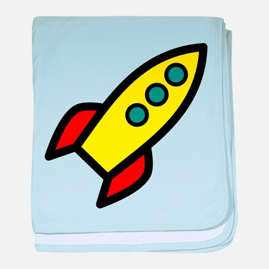 yellow rocket baby blanket