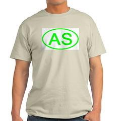 AS Oval - American Samoa Ash Grey T-Shirt