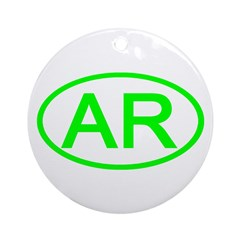 AR Oval - Arkansas Ornament (Round)