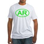 AR Oval - Arkansas Fitted T-Shirt