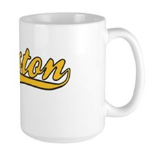 Boston Strong Gold Ballpark Swoosh Mug