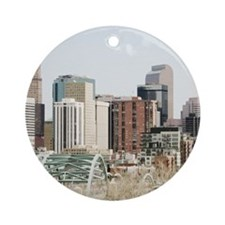 Denver Oil Painting Ornament (Round)