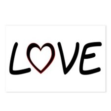 Heart Shaped Love Postcards (Package of 8)
