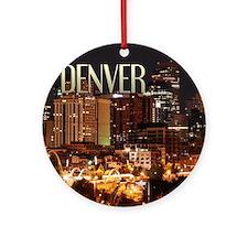 Denver Colorado Ornament (Round)
