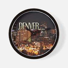 Denver Colorado Wall Clock