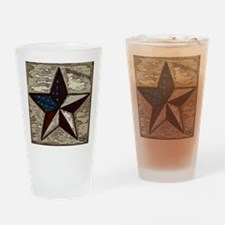 Americana Star Drinking Glass