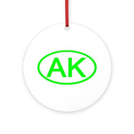 AK Oval - Alaska Ornament (Round)