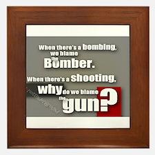 Blaming the gun? Framed Tile