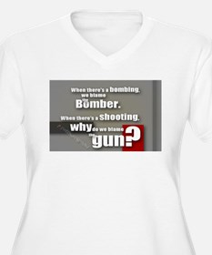Blaming the gun? Plus Size T-Shirt
