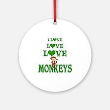 Love Love Monkeys Ornament (Round)