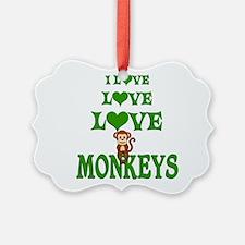 Love Love Monkeys Ornament