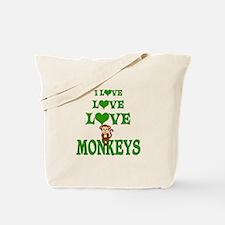 Love Love Monkeys Tote Bag