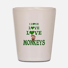Love Love Monkeys Shot Glass