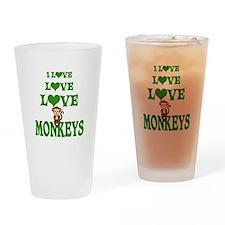 Love Love Monkeys Drinking Glass