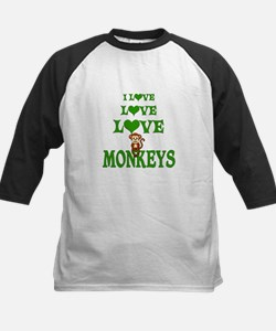 Love Love Monkeys Kids Baseball Jersey
