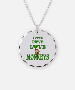 Love Love Monkeys Necklace