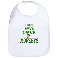 Love Love Monkeys Bib