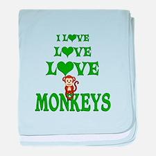 Love Love Monkeys baby blanket