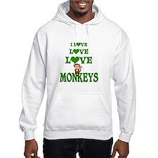 Love Love Monkeys Hoodie Sweatshirt