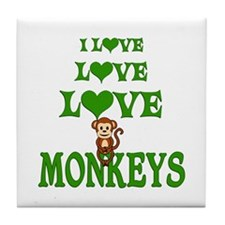 Love Love Monkeys Tile Coaster