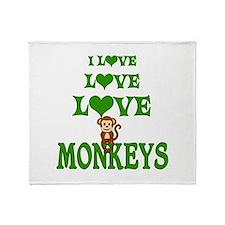 Love Love Monkeys Throw Blanket