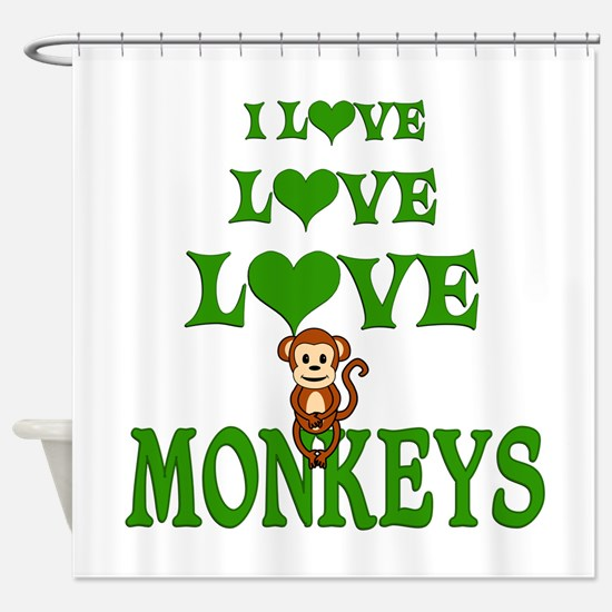 Love Love Monkeys Shower Curtain