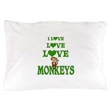 Love Love Monkeys Pillow Case