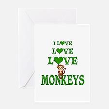 Love Love Monkeys Greeting Card